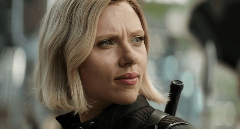 Black Widow in Avengers: Infinity Wars