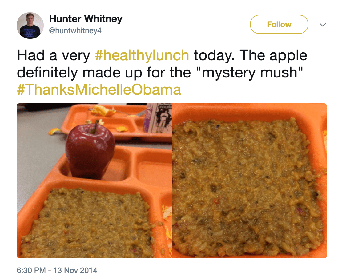 School lunch mystery mush