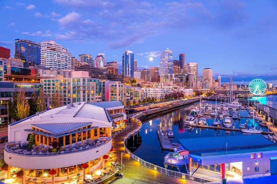 downtown Seattle,