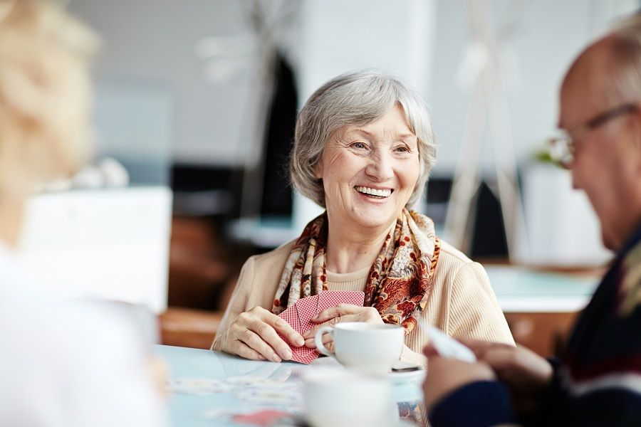 Senior lady smiling