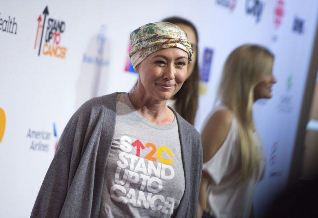 Shannen Doherty at a 'Stand Up to Cancer' event.