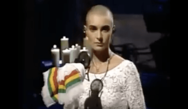 Sinead O'Connor on 'Saturday Night Live'.