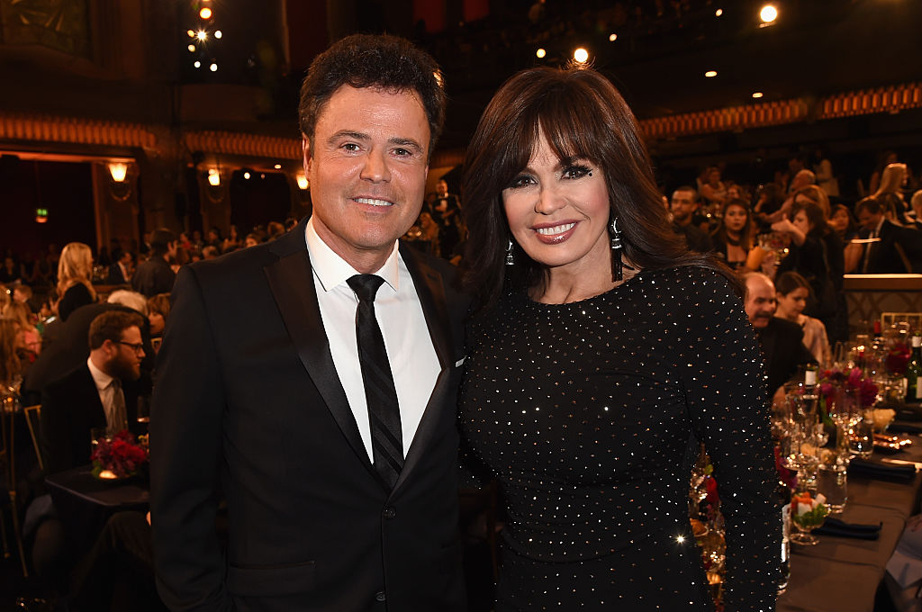 Singers Donny Osmond (L) and Marie Osmond