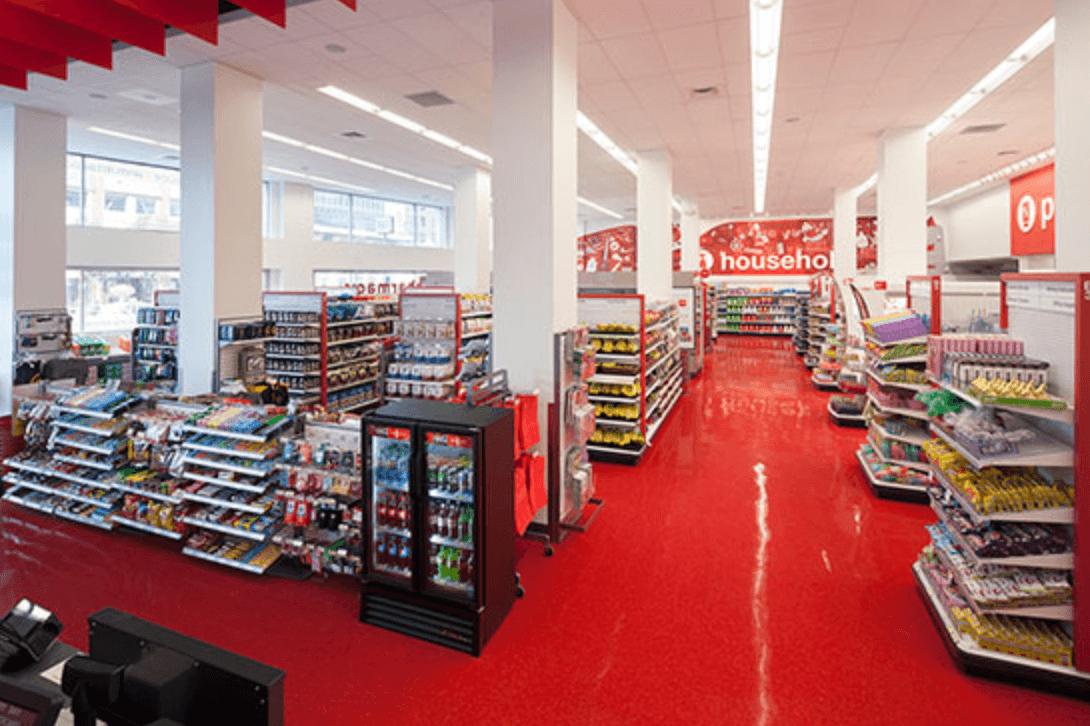 Small Target aisles