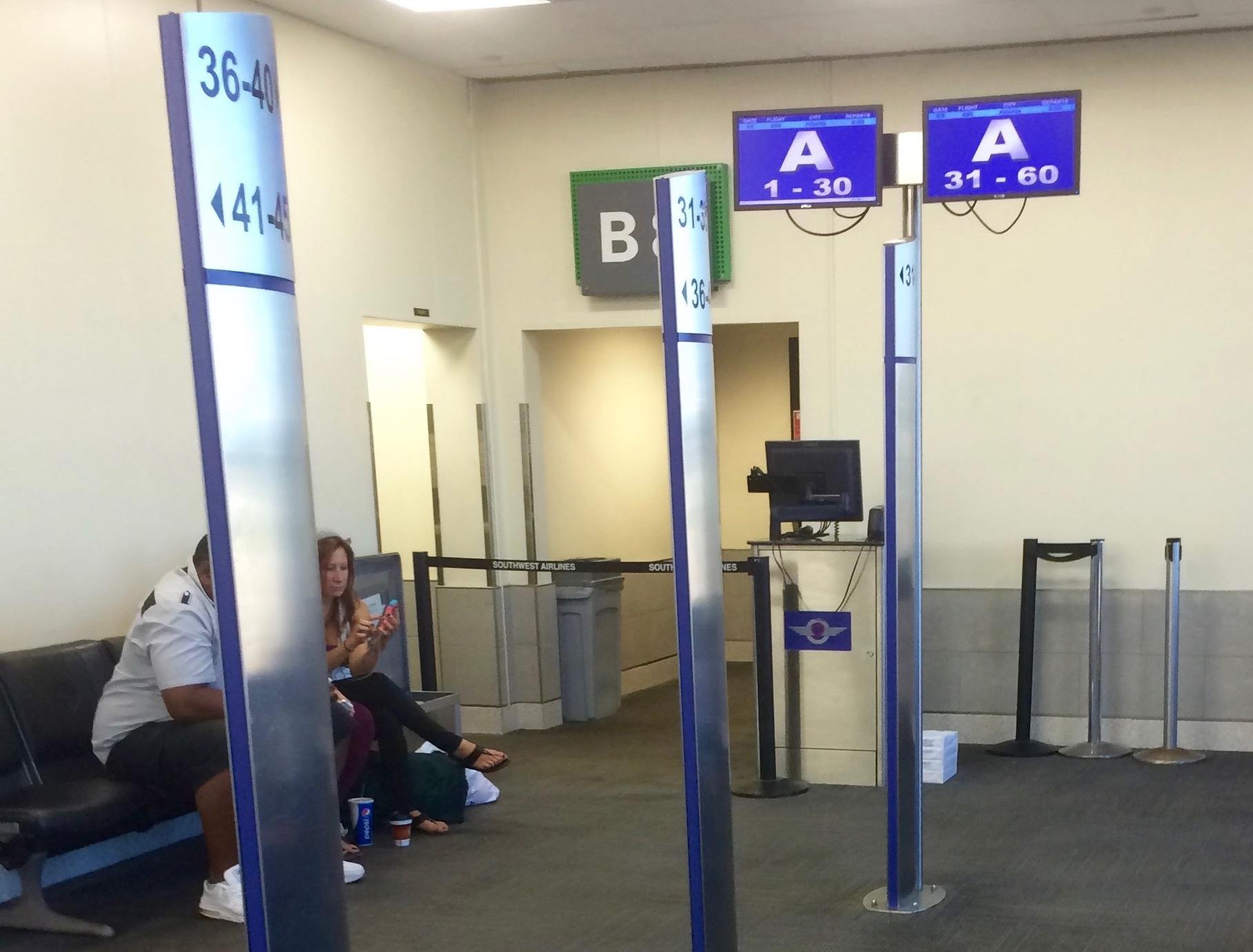 Southwest airline boarding