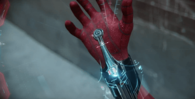 The Spider-Man suit's features.