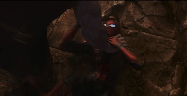 Spider-Man being attacked.