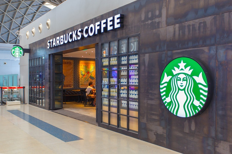 Starbucks sign at Chengdu Shuangliu International Airport