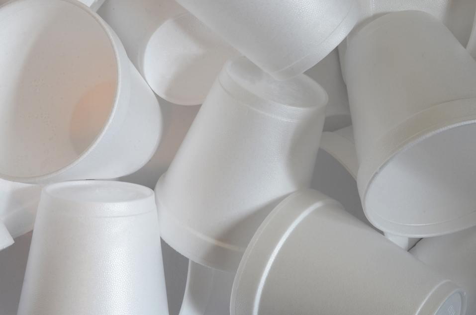 white Styrofoam cups