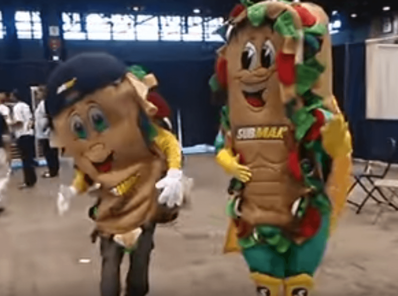 Subman Subway mascot