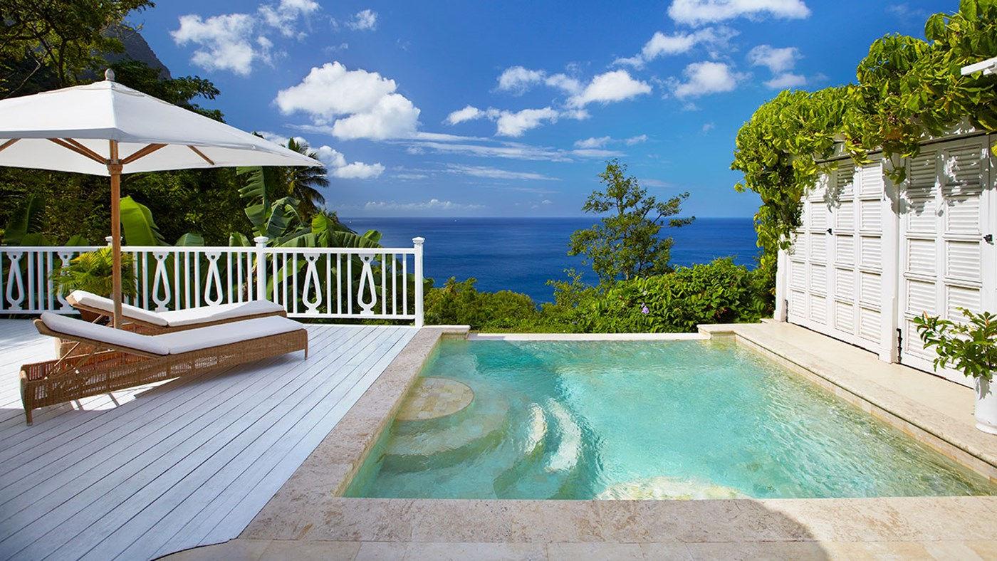 Sugar beach private pool