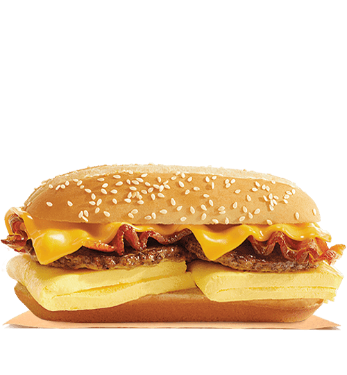 The Burger King Supreme Breakfast sandwich.