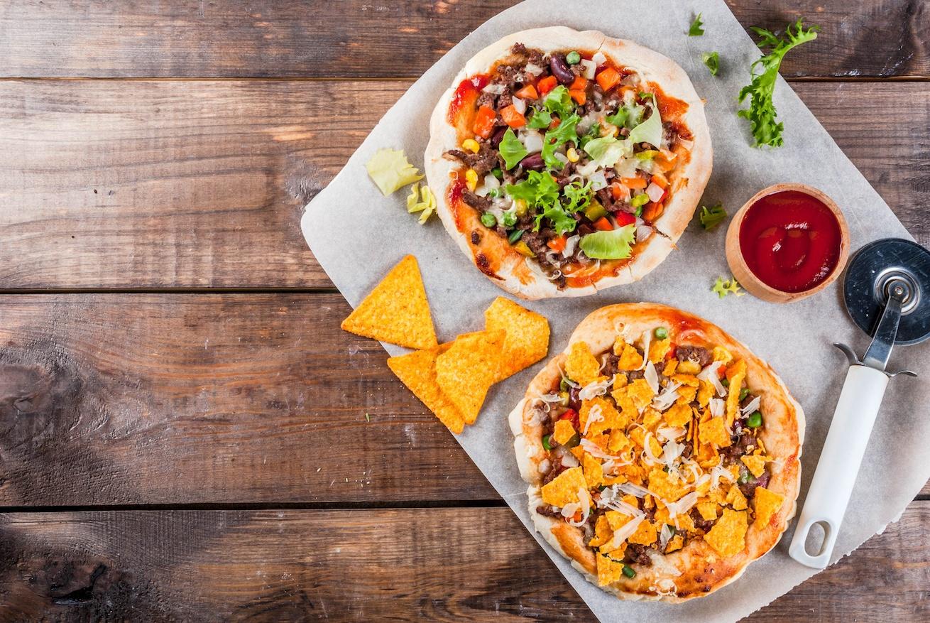 Homemade Mexican Taco PIzza
