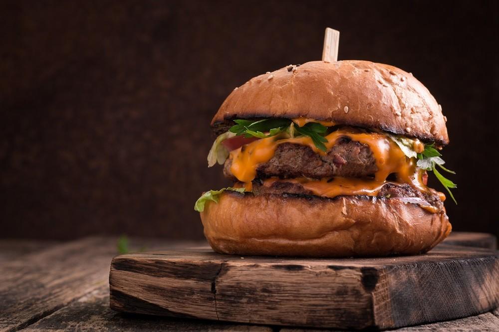 Tasty grilled burger