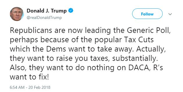 Trump loves his tax cut.