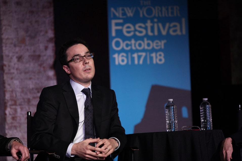 Ryan Lizza attends The 2009 New Yorker Festival: The Political Scene