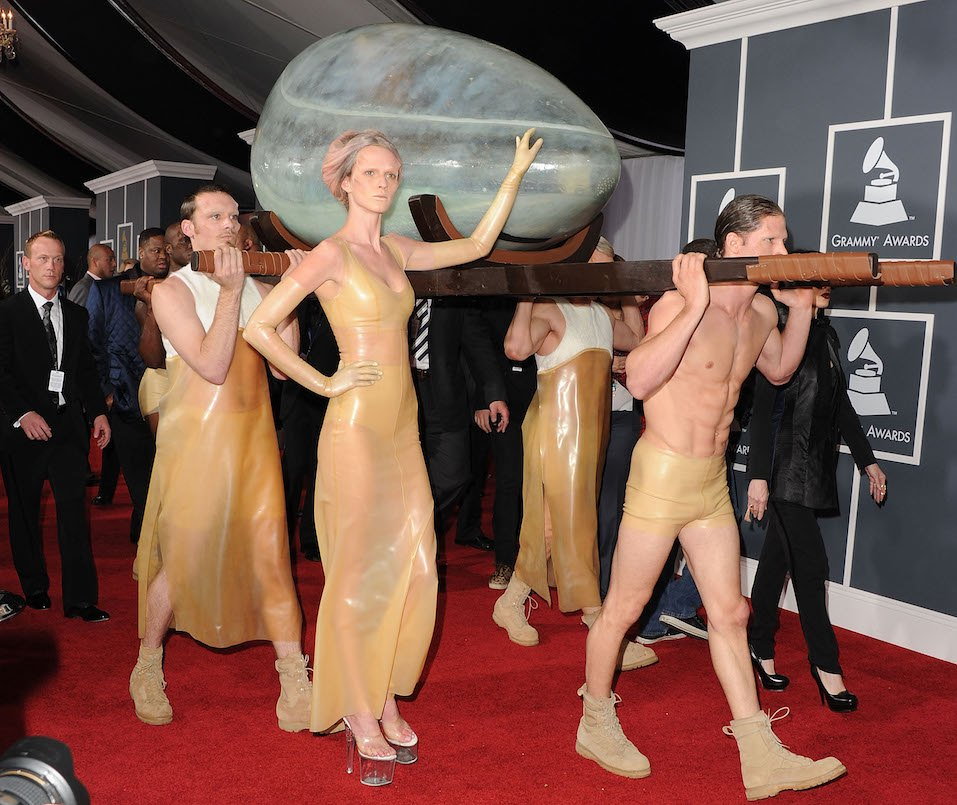 Singer Lady Gaga arrives at The 53rd Annual GRAMMY Awards