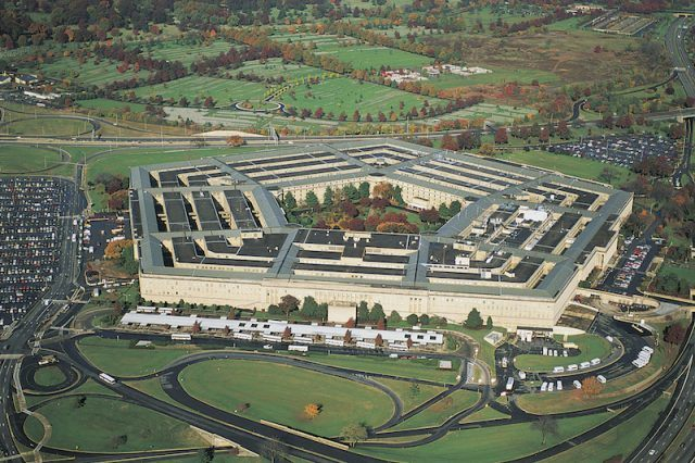 The Pentagon seen from above.