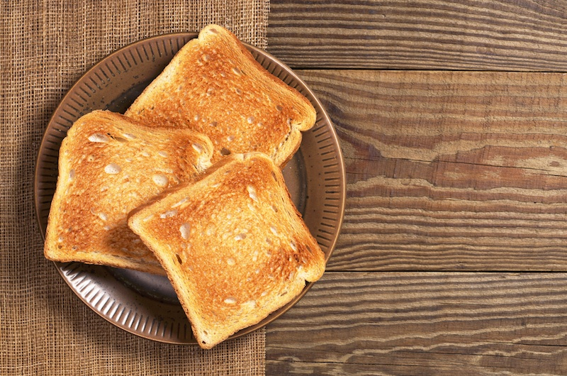 Slices of toasted bread
