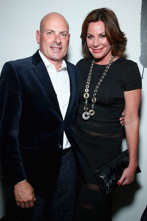 Tom A'gostino and LuAnn de Lesseps on a red carpet together.