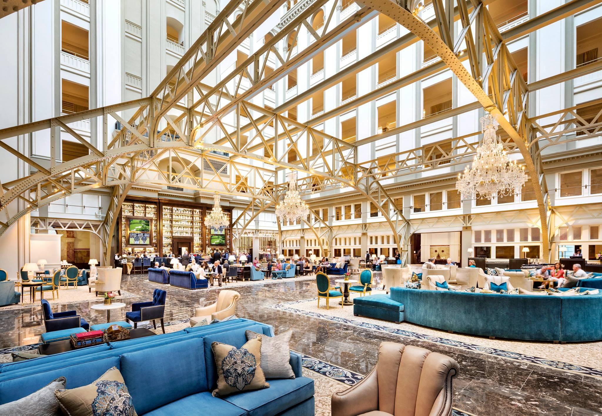Trump hotel DC lobby far
