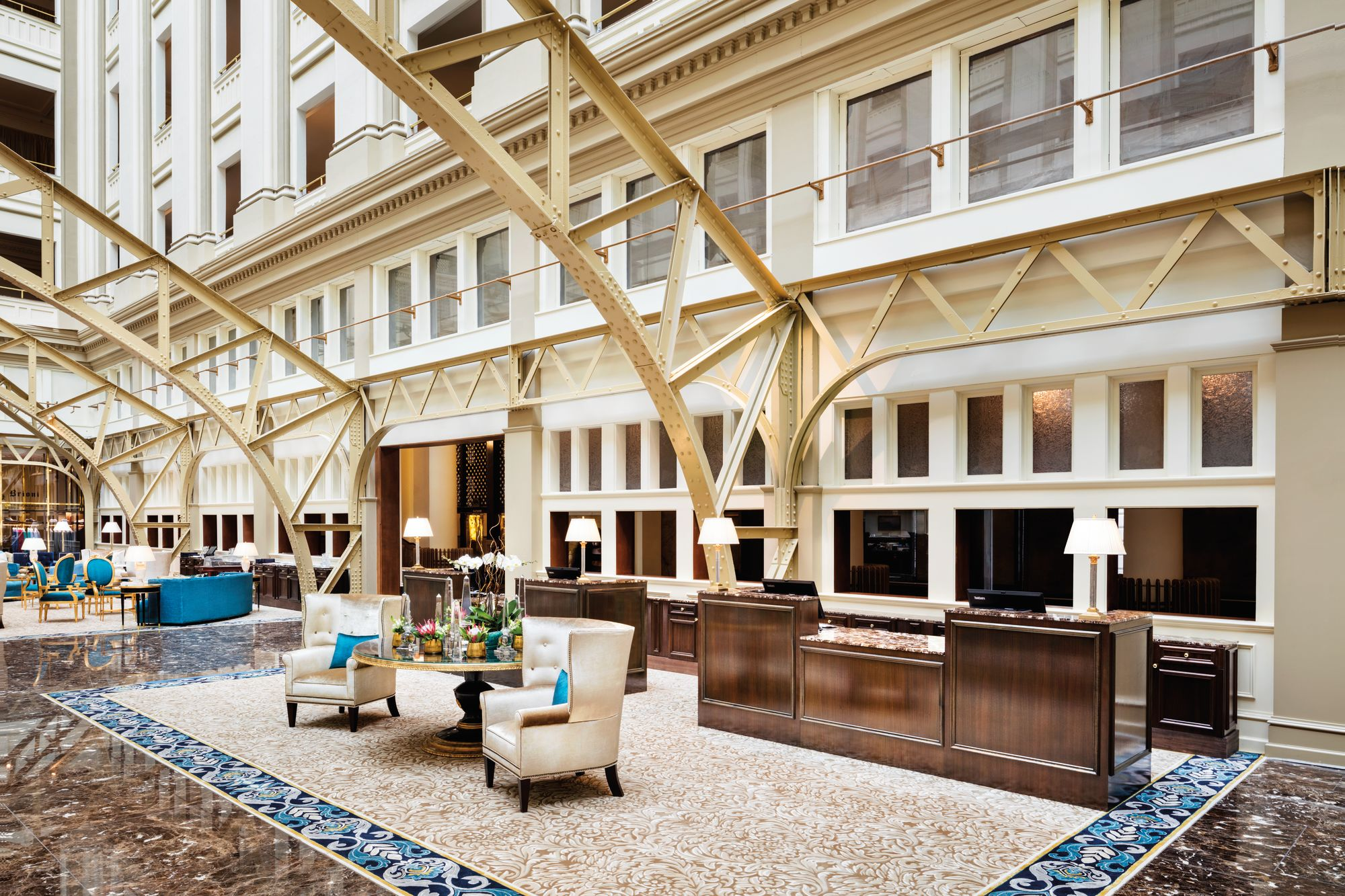 Trump hotel DC lobby