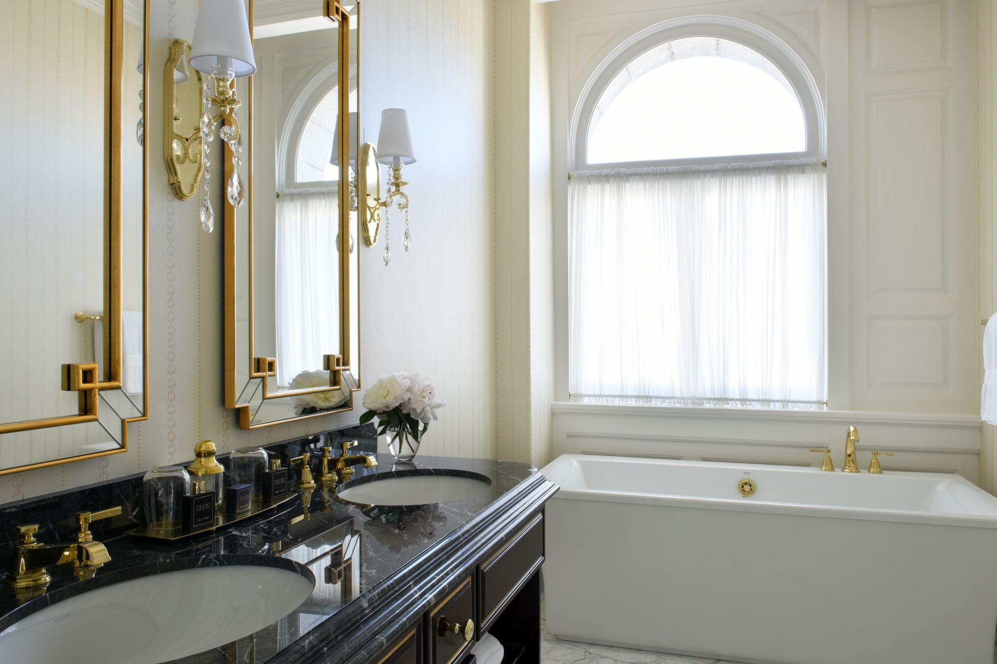 Trump hotel bathroom