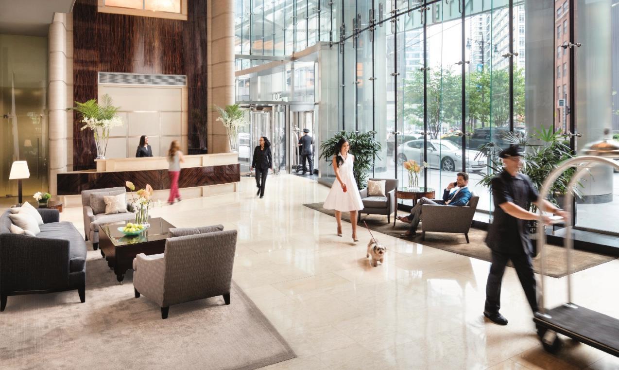 Trump hotel chicago lobby