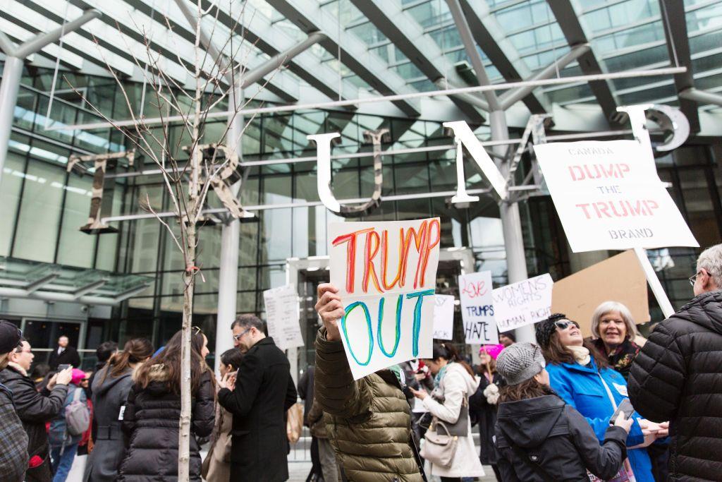 Trump hotel protest Toronto