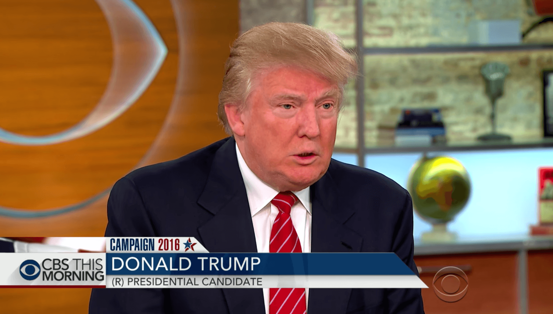 Trump on CBS This morning