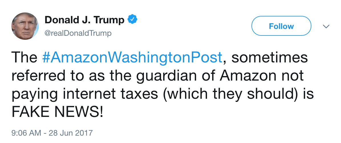 Trump tweet washington post