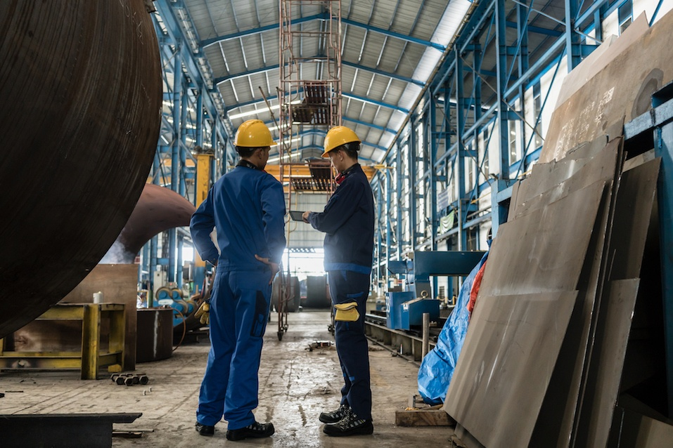 Person working in a factory