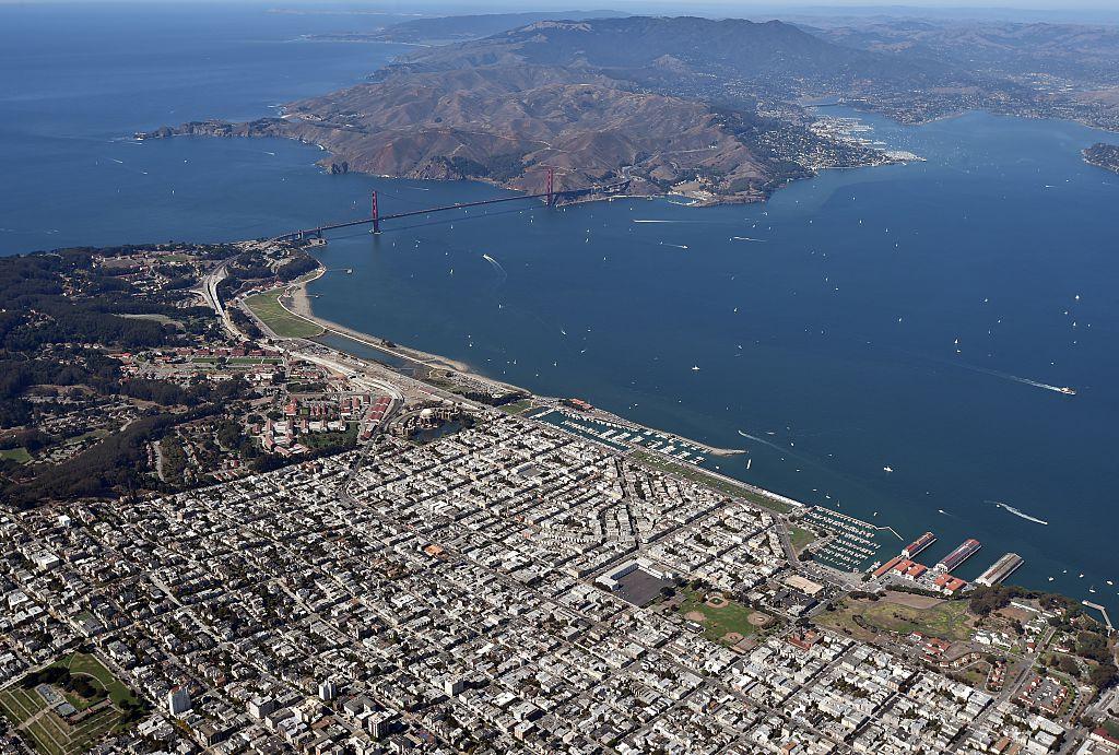 The Golden Gate Bridge and the San Francisco Bay