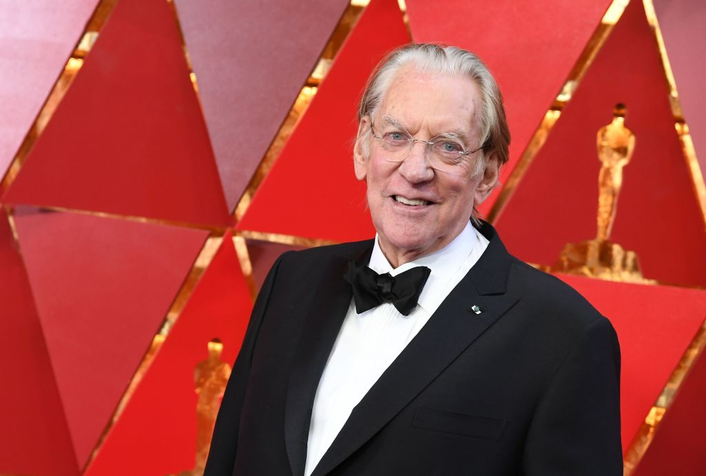 Canadian actor Donald Sutherland arrives for the 90th Annual Academy Awards
