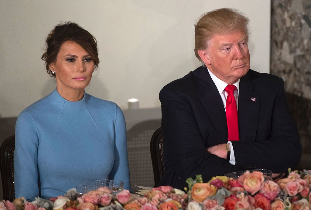 US President Donald Trump and First Lady Melania Trump attend the Inaugural Luncheon