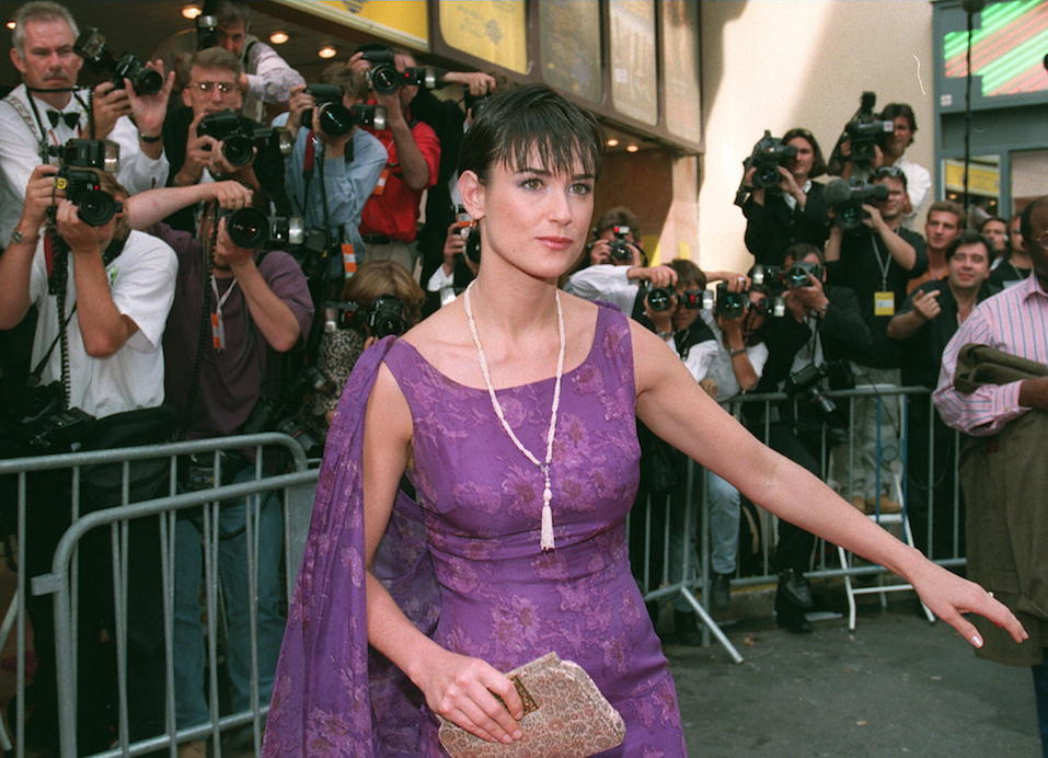 US actress Demi Moore upon arrival for the European premiere
