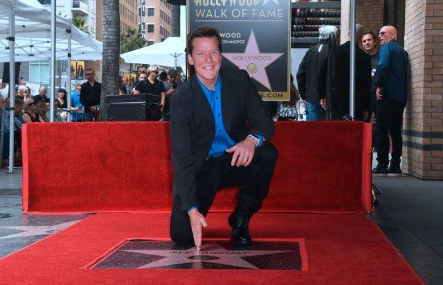 Jeff Dunham poses on his Hollywood Walk of Fame Star