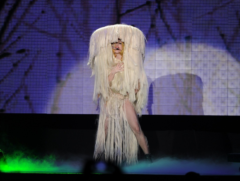US singer Lady Gaga performs on stage