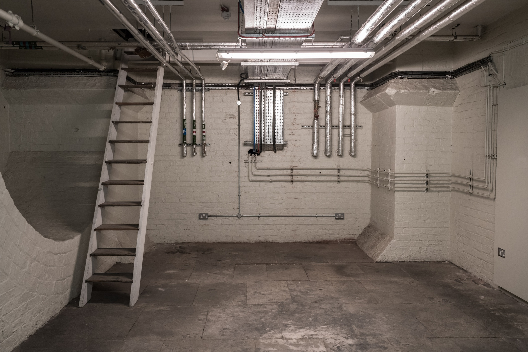 Scary unfinished Basement Pipes