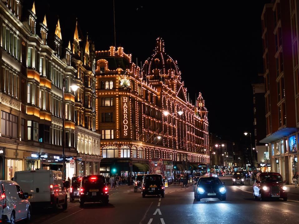 Harrods Department Store on Brompton Road