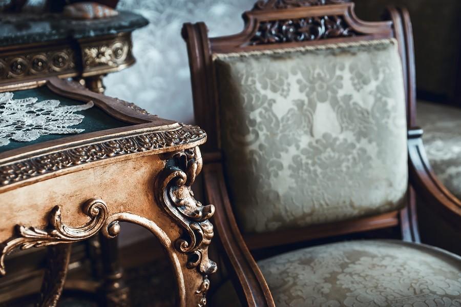 Old wooden furniture