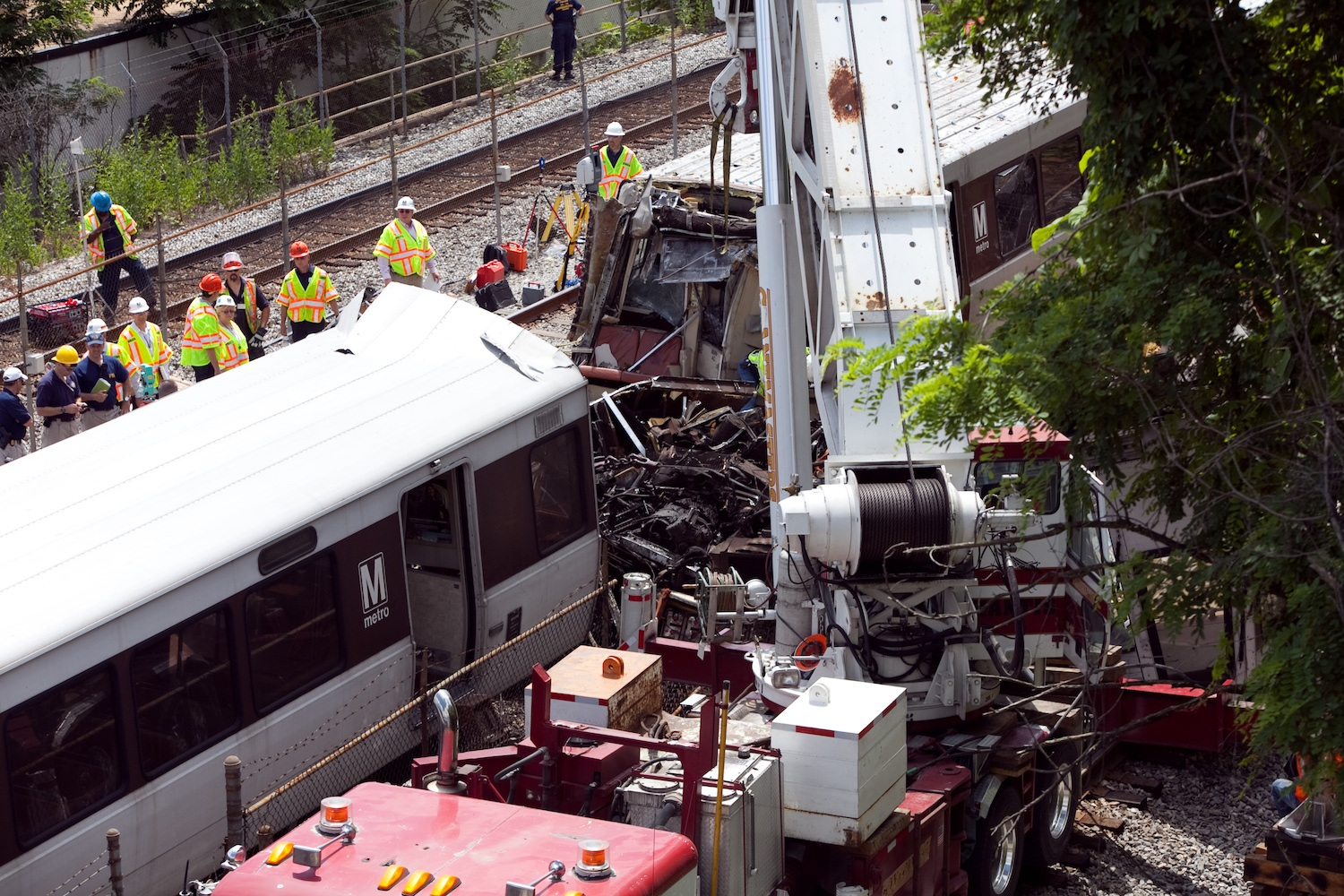 Investigators Continue Work At The Site Of DC Metro Line Crash