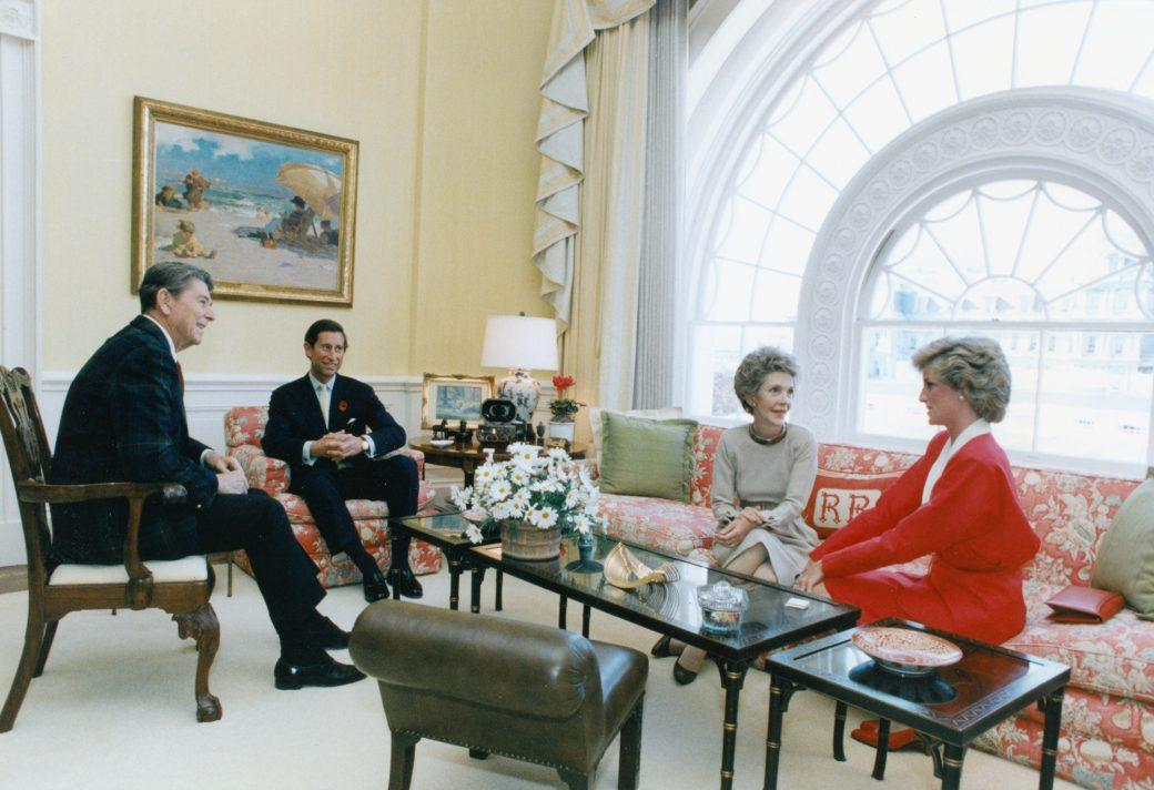 West sitting hall ronald reagan prince charles and princess diana