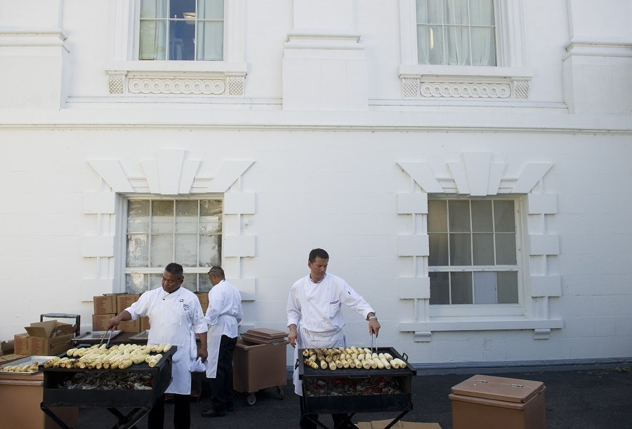 Chefs cooking at white house