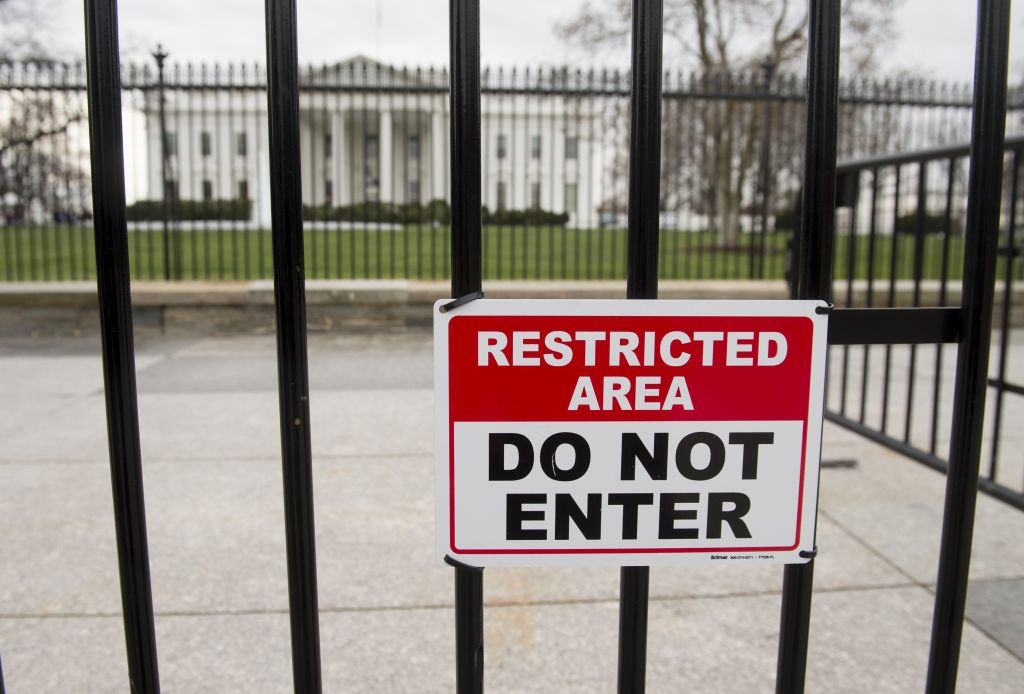 White House security barrier