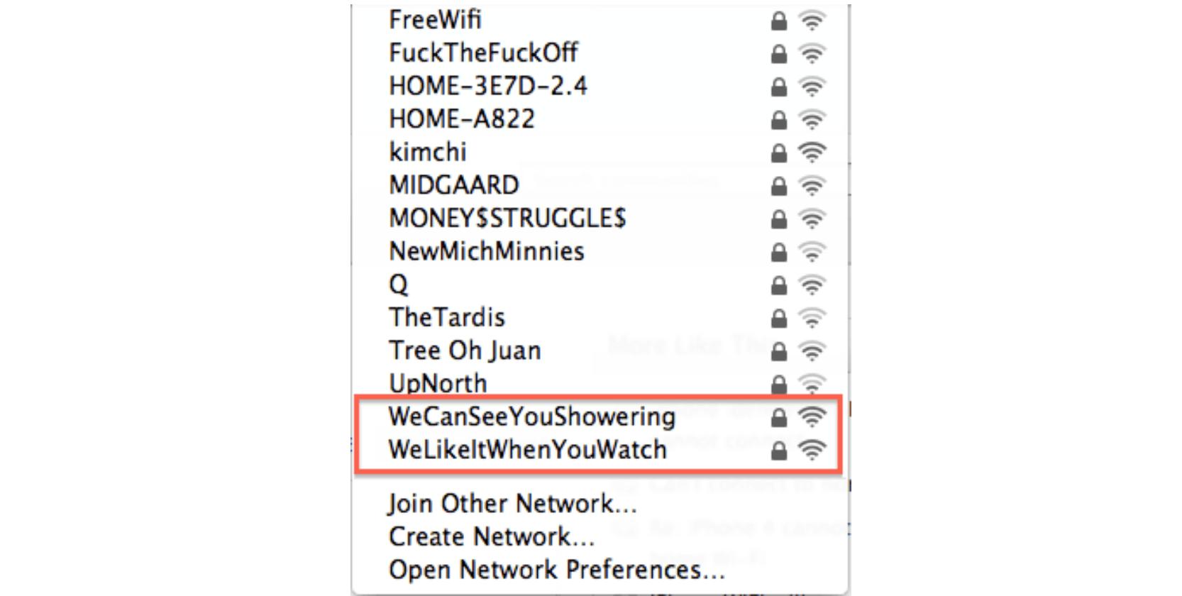 Neighbor note wifi