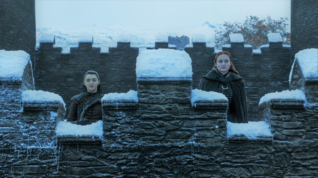 Arya and Sansa Winterfell Game of Thrones