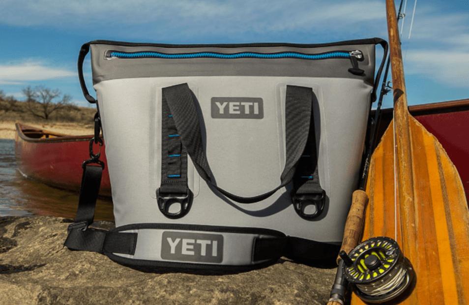 Yeti cooler camping or fishing