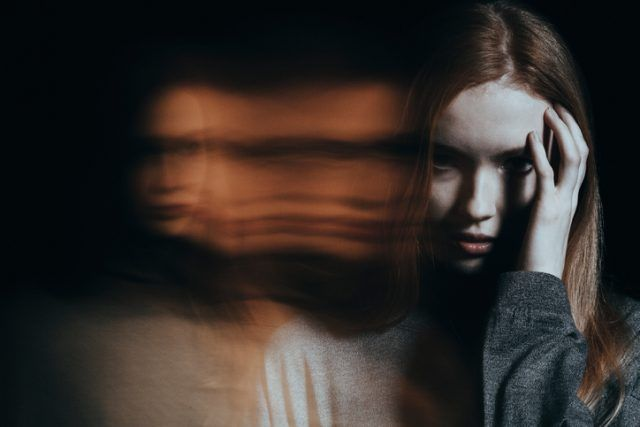 Young girl hallucinating