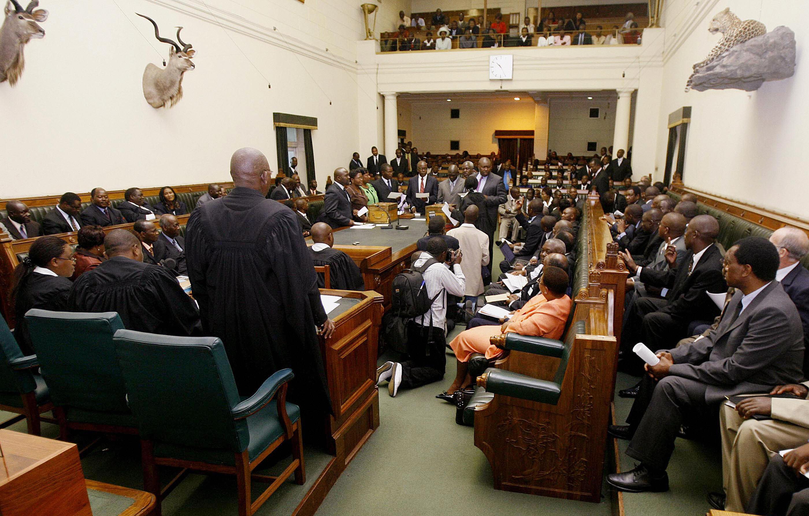 Zimbabwean members of parliament recite